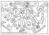 Coloring Pages Gingerbread Spices Herbs Christmas Printables Printable Results sketch template