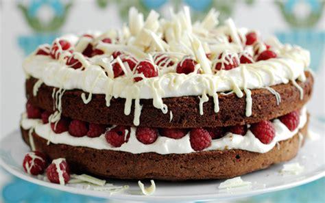 double chocolate  raspberry cake recipe goodtoknow