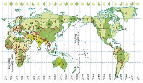 countries time zones world worldatlascom