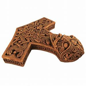 Hammer of Thor Wood Finish Plaque - Paul Borda Mjolnir Plaque