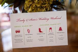 wedding itinerary wedology by dejanae events wedding weekend