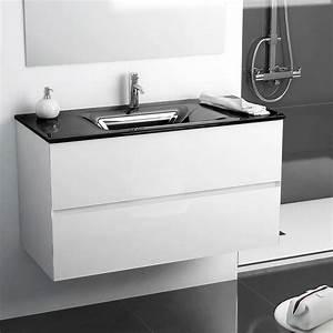 meuble salle de bain noir et blanc maison design bahbecom With meuble salle de bain blanc et noir