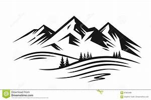 Mountain And Landscape Vector Stock Vector