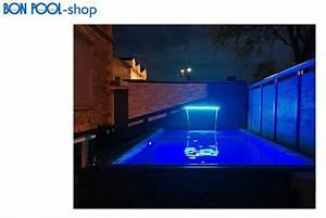 Bild Mit Led Hintergrundbeleuchtung : schwalldusche wasserfall led beleuchtung 600 x 150 mm 8 w bon pool ~ Bigdaddyawards.com Haus und Dekorationen