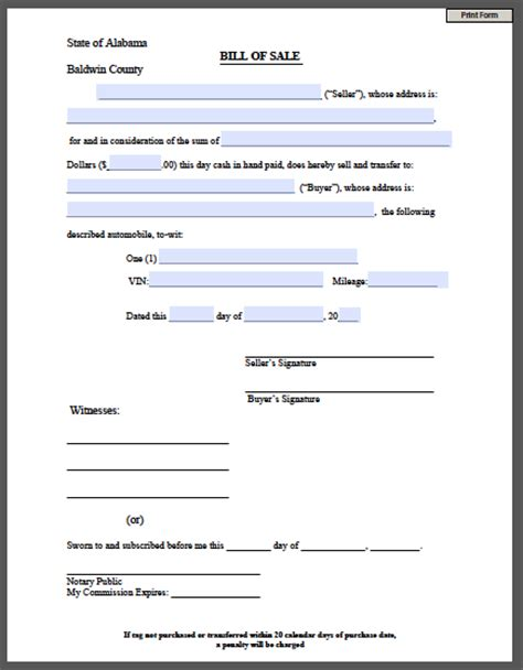 """Search Results for """"Free Printable Bill Sale Form For Car ..."""