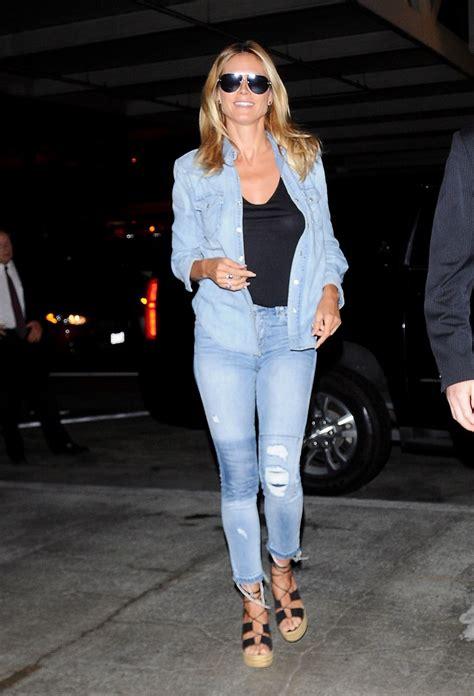 Heidi Klum Urban Style Arrives Lax Los Angeles