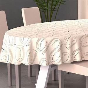Nappe Table Ovale : nappe ovale l230 cm jade beige nappe de table eminza ~ Teatrodelosmanantiales.com Idées de Décoration