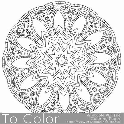 Coloring Pages Gel Intricate Printable Pen Adults