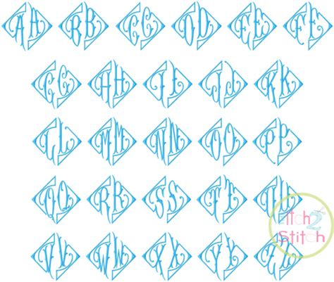 elegant  letter monogram font  itch  stitch