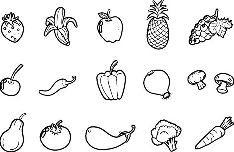 vegetables drawing  kids  paintingvalleycom