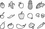Vegetables Coloring Fruits Pages Colouring Drawing Fruit Vegetable Colour Veggies Printable Template Line Paintingvalley Sheets Veggie Easy Nextbook Clipart Drawings sketch template