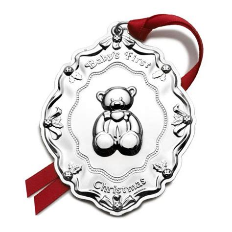 personalized silver christmas ornaments baby s 2016 towle ornament personalized baby gift
