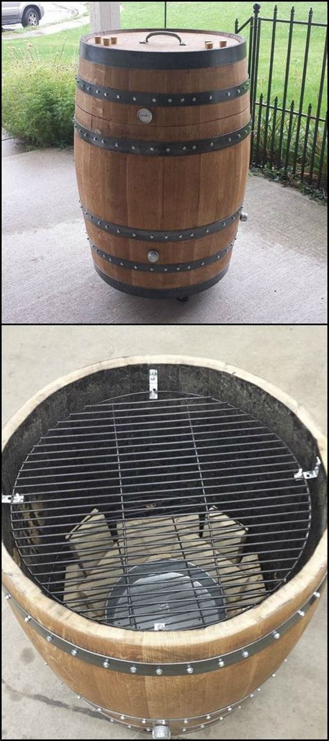 build  whiskey barrel bbq smoker http