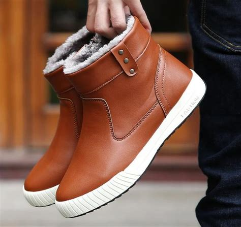 Shoes Warm Winter Fashion Men Boots Kaaum