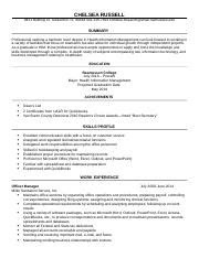 Module Resume by Him 2410 And Ethics Rasmussen College Page 1