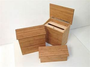 environmentally friendly, modern wood mailboxes, in three