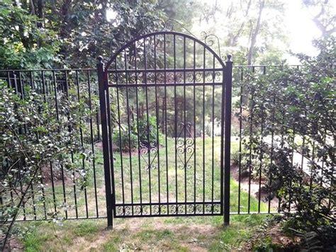 decorative wrought iron garden gate wrought iron fence