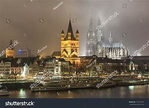 Cologne Germany By Night Stock Photo 152257787 Shutterstock