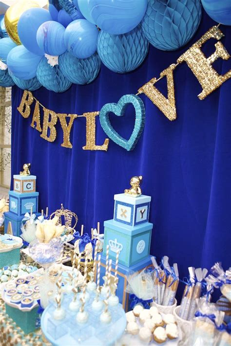 Baby Shower Boy by Royal Blue Prince Baby Shower Table Projects To Try