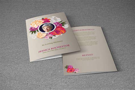 funeral brochure templates vector eps psd