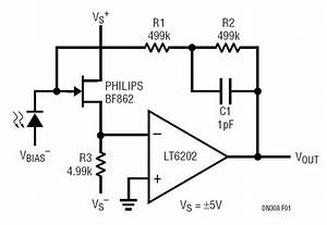 Low Noise  Low Power Photodiode Amplifier Circuit