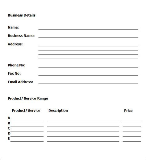 business template pdf best business plan template pdf monsterload