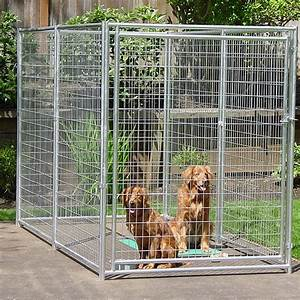 lucky dog 6x10 foot galvanized welded wire kennel With best price on dog kennels