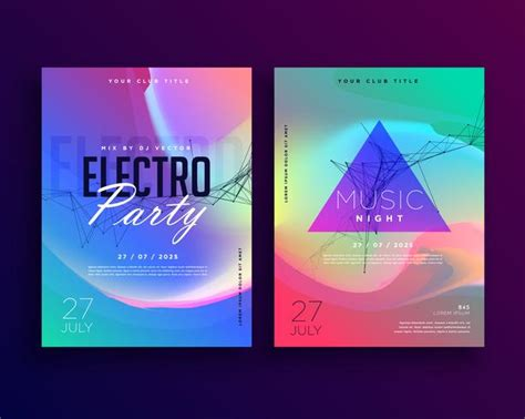 Colorful Flyer Psd Template Free Download by Electro Music Colorful Party Event Flyer Template Design