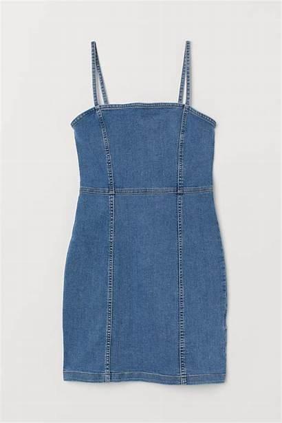 Hm Ladies Www2 Elbise Denim Gabardin Azul