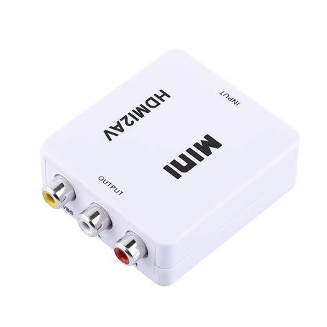 Harga Mini Hdmi To Rca digital mini 1080p hdmi to rca audio av cvbs adapter