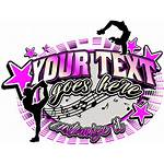 Cheer Dance Shirt Elements Graphic Text Graphics