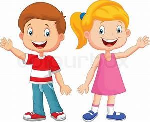 Vector Illustration Of Cute Children