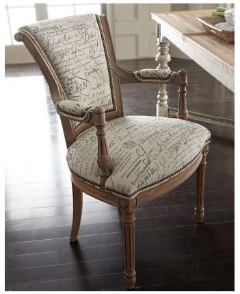 french script fabric chair   home  chateau  frison dining furniture french