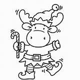 Moose Coloring Pages Christmas Printable Getdrawings Getcolorings sketch template