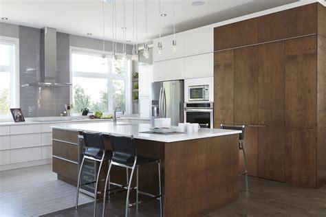 design cuisine salle a manger gris et prune