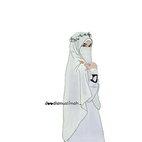 Poto Kartun Hijab Bercadar Gambar Islami