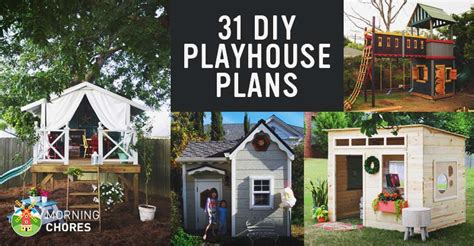 diy playhouse plans  build   kids secret