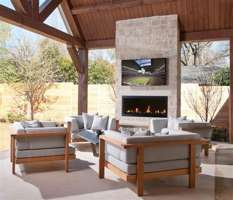 24 Outdoor Fireplace Designs Ideas Design Trends