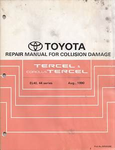 1991 Toyota Tercel Wiring Diagram Manual Original