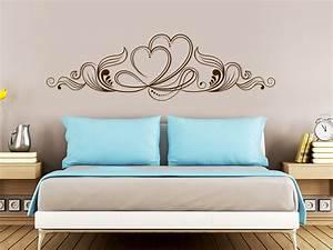 Wandtattoo Für Schlafzimmer : wandtattoo ornament mit herzen wandtattoo de ~ Buech-reservation.com Haus und Dekorationen