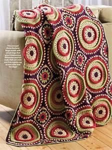 Large Circular Motif Afghan Crochet Pattern  U22c6 Crochet Kingdom