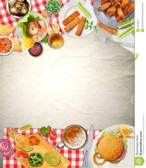 fond de cuisine fond bar picnic cuisine food illustration stock image 54049270