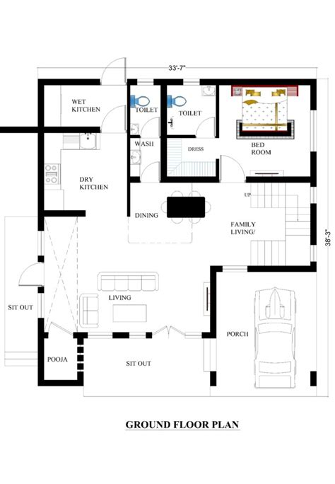 2828 ground floor plan 33x38 house plans for your house house plans