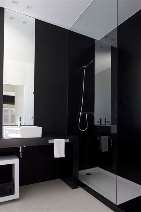 black bathrooms ideas stylish black bathroom design with simply shower room