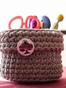 Corbeille Au Crochet : lot de corbeilles gigognes l as le crochet au maculin tricoti tricota ~ Preciouscoupons.com Idées de Décoration