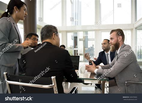 15166 business meeting presentation business discussion meeting presentation briefing stock
