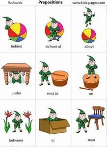 Prepositions in on under beside between