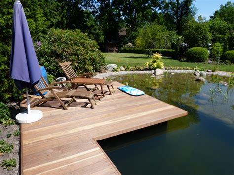 Steg Bauen Teich by Gartenteich Mit Steg Royalcleaning Club