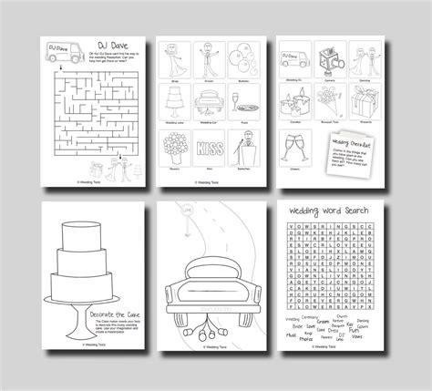 kids activity book printable kids wedding activity book