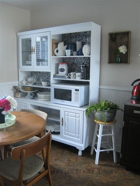 redoing kitchen cabinets wall unit to kitchen hutch makeover hutch makeover 4623